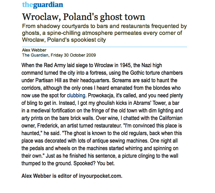 Wroclaw Ghost Town - Guardian